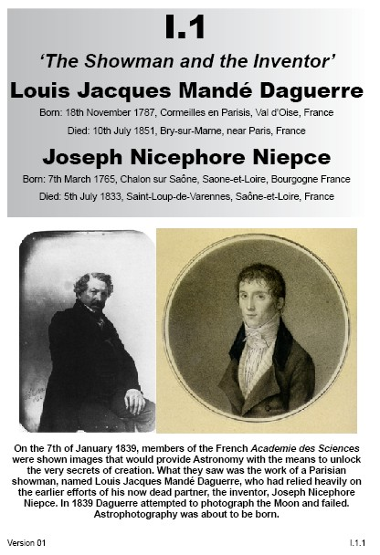 I.1 Louis Daguerre & Nicephore Niepce