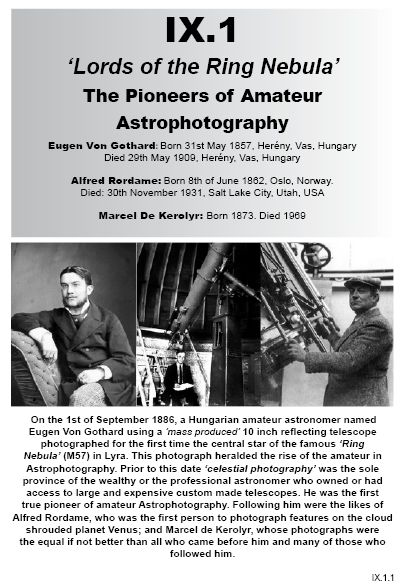 IX.1 Pioneers of Amateur Astrophotography