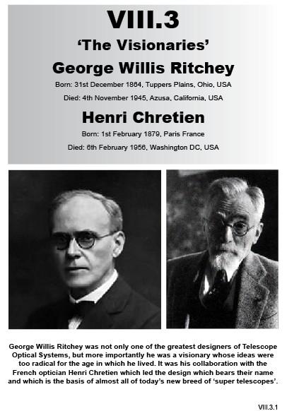 VIII.3 George Willis Ritchey & Henri Chretien