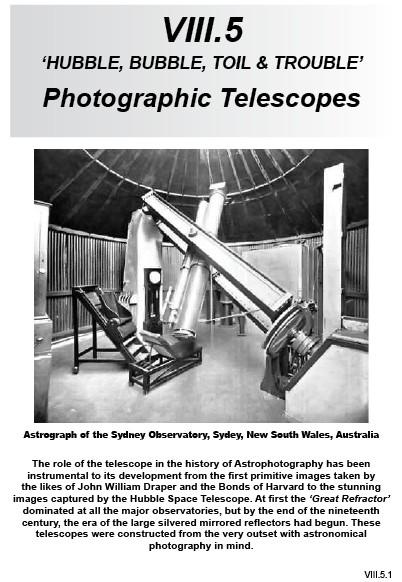 VIII.5 Photographic Telescopes