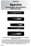 VI.0 Photographic Astronomical Spectroscopy